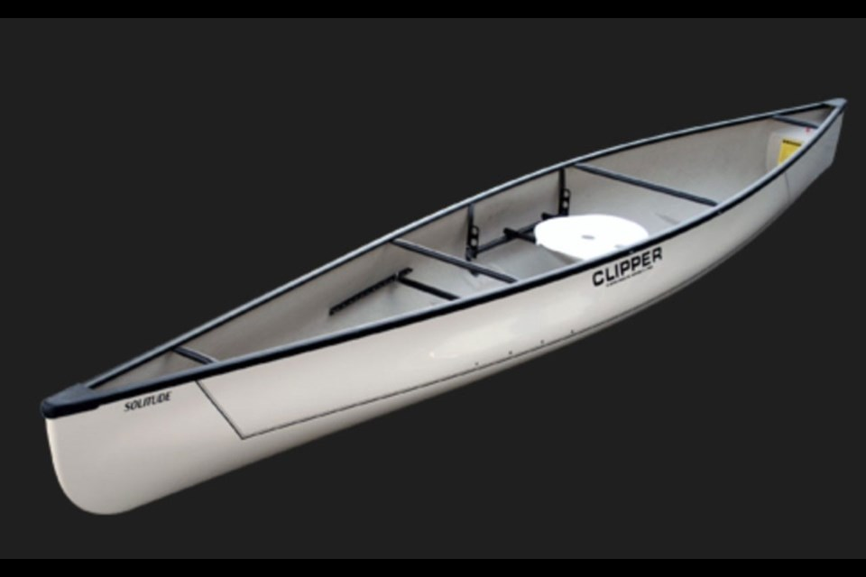 TROUBLED WATERS Photo of one of the Clipper Prospector canoes that were recently reported stolen to Whistler police. Image courtesy of the Whistler RCMP