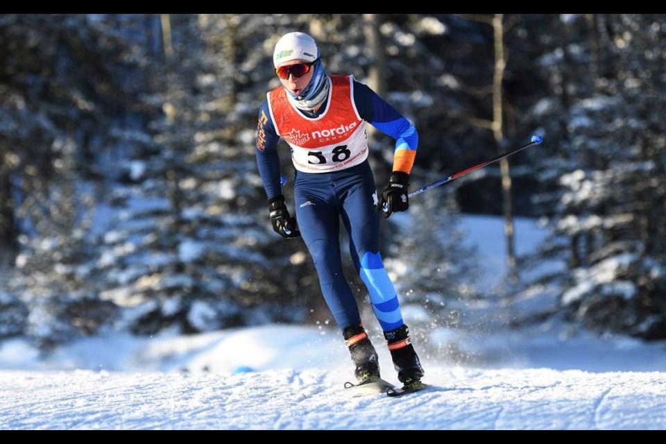 JOLTIN JOE Pemberton s Joe Davies won the U20 division of the season-opening NorAm Cup race in Canmore, Alta. on Dec. 7. <ParaStyle:CUTLINE\:CUTLINE Credit>Photo by Doug Stephen