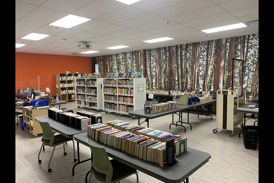 CONTINUED ACCESS: Powell River Public Library has a pop-up library operating in the First Credit Union community room that continues to serve library patrons after the March 29 flood in the main library space.