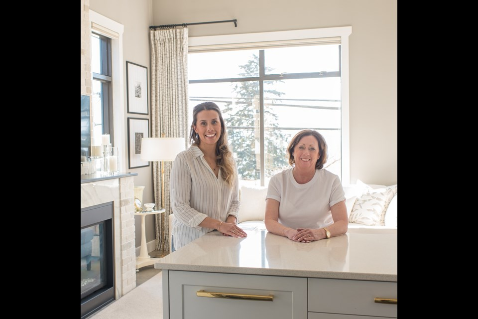 Pebble Beach Design owner Deb Vanderkemp [right] and her daughter Paige.