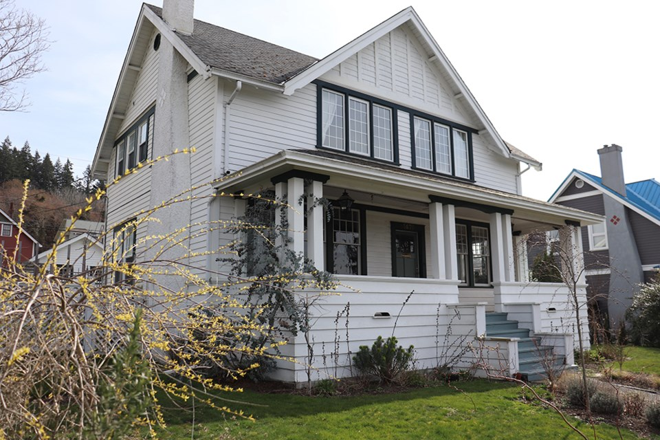 Keith and Michelle Donald's home in Powell River's historic Townsite neighbourhood was recognized by Townsite Heritage Society with the 2020 Grand General award.