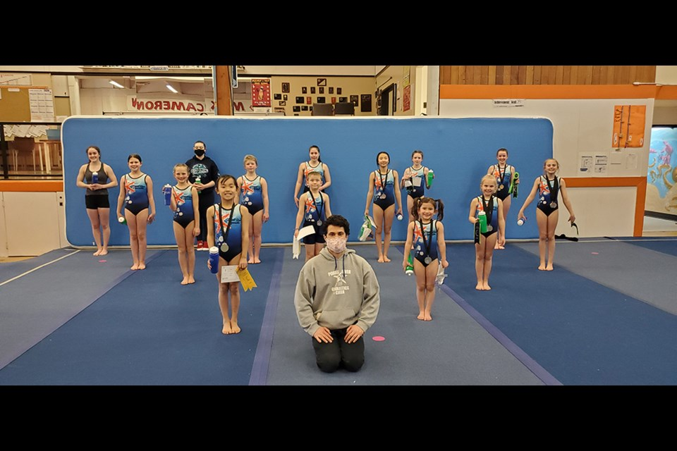 EXCELLENT SHOWING: Powell River Gymnastics and Circus Competitive Team recently competed in a virtual competition, coming away with a number of awards.