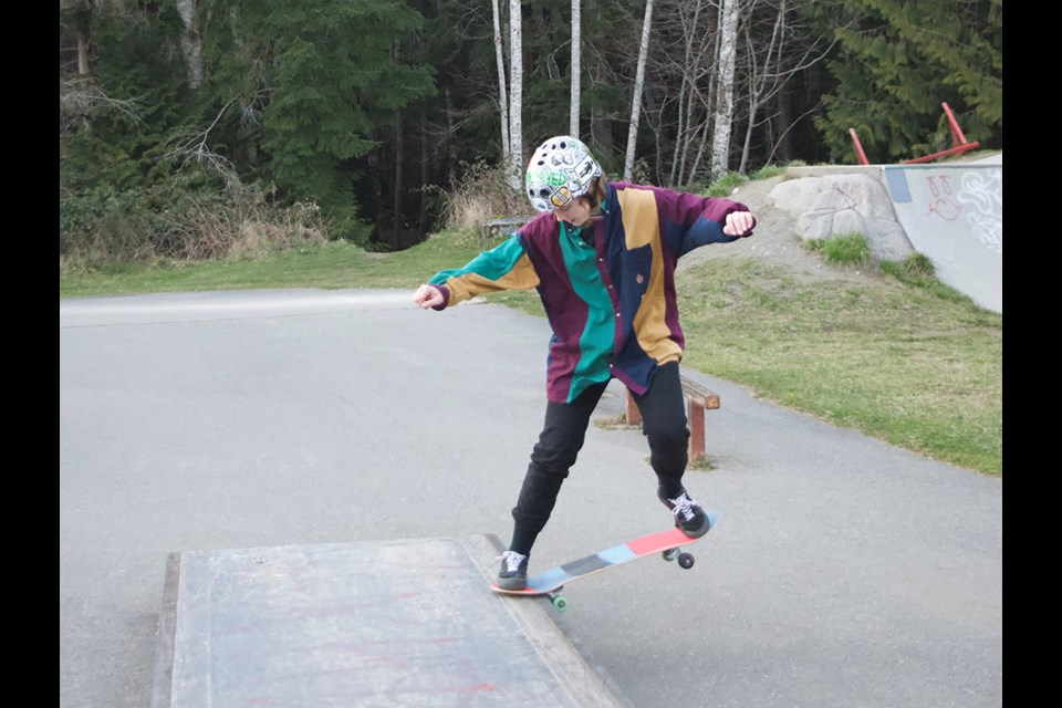 ROLLING RECRUITER: In addition to being an enthusiastic skateboarder, Amber Schur is a member of qathet Skateboard Society who helps out with recruitment.