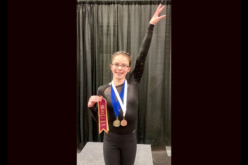 Alencia Graham was the golden girl of Prince George Gymnastics Club, winning the all-around 2019 Zone Eight Regional Championship in her home gym (via Submitted)