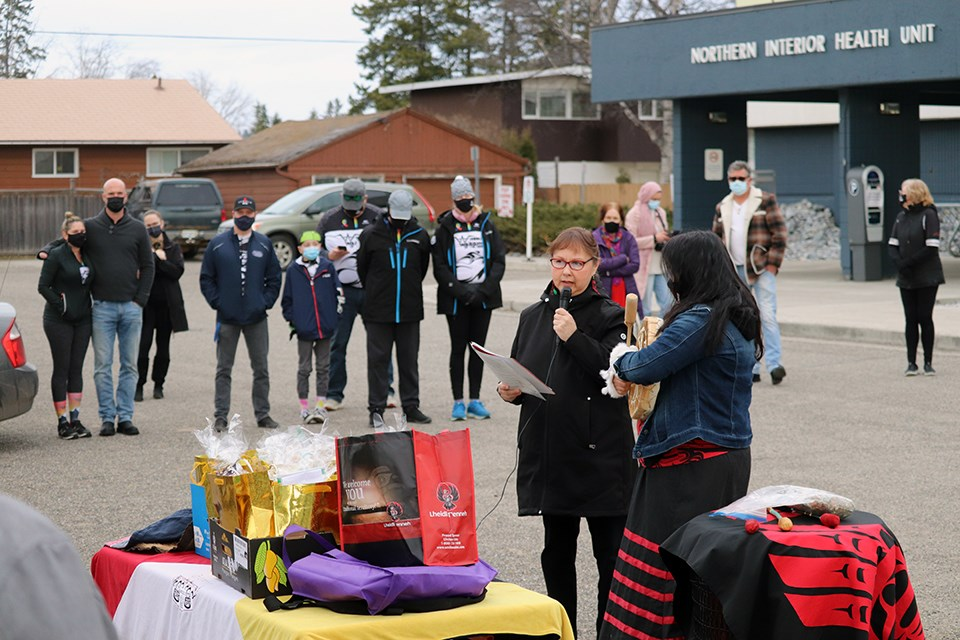 The drum group that stood outside University Hospital of Northern BC in Prince George celebrated its one-year anniversary on March 26, 2021.
