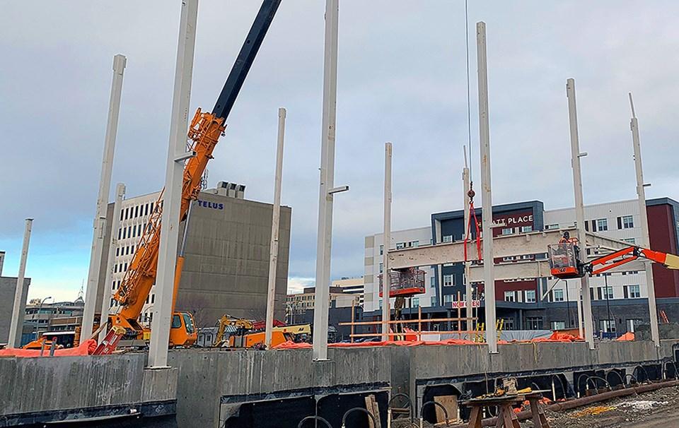 new pool steel beams