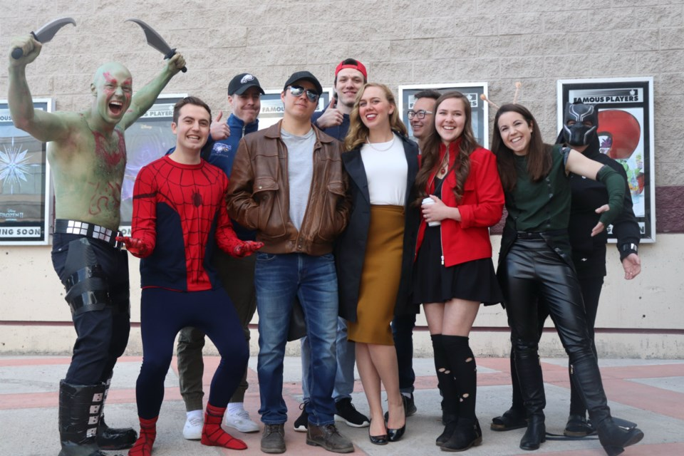 Prince George fans dressed up for the city's premiere of Avengers: Endgame (via Kyle Balzer)