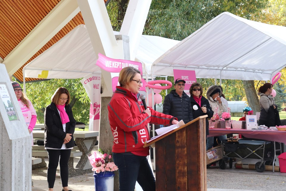 The CIBC Run for the Cure began shortly before 10 a.m. (via Hanna Petersen)