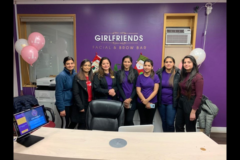 Girlfriends Facial and Brow Bar Staff say they want to thank the community for the support. (via Girlfriends Facial and Brow Bar)