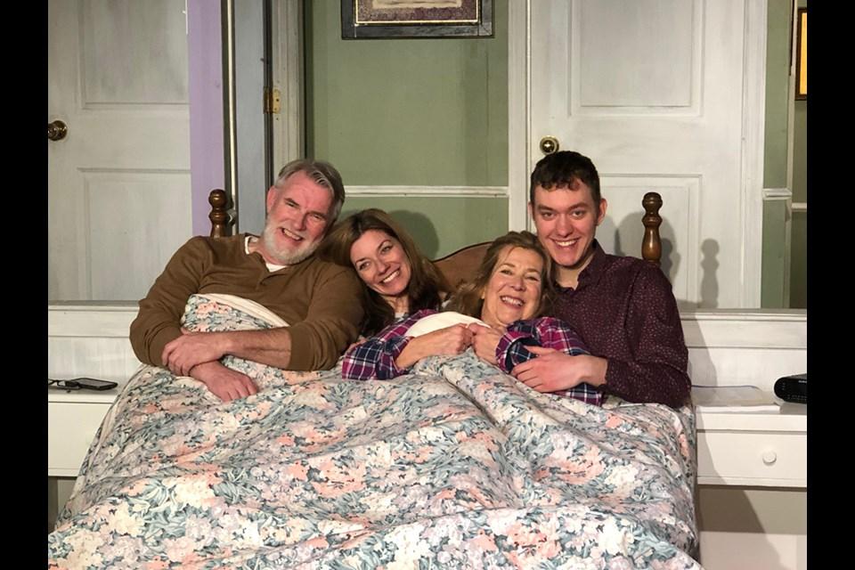 The main cast: Wally MacKinnon as Earl, Dana Fradkin as Sarah, Frances Flanagan as Gail, and Daniel Bristol as Ben. (via Hanna Petersen)