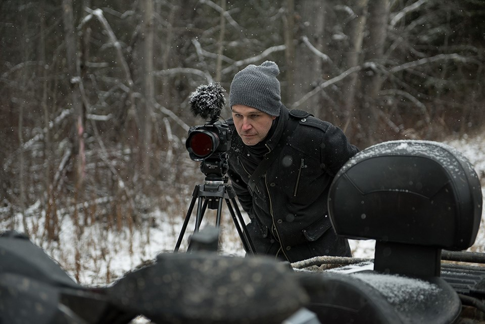 Norm Coyne with camera