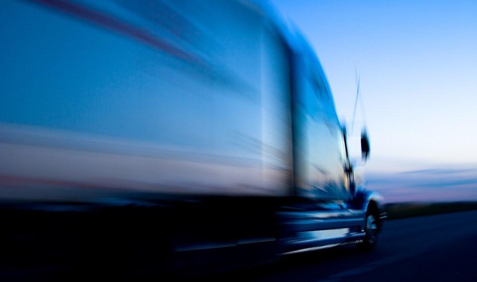 Speeding semi-truck trailer - Getty Images