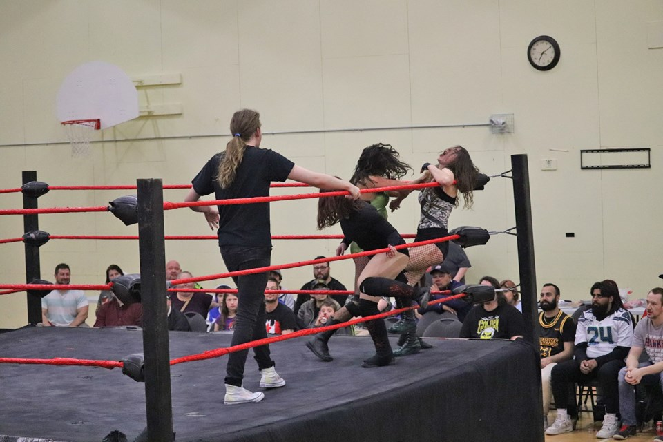 Canadian Wrestling Elite's 10th Anniversary Tour slams down at the Connaught Youth Centre. (via Hanna Petersen)