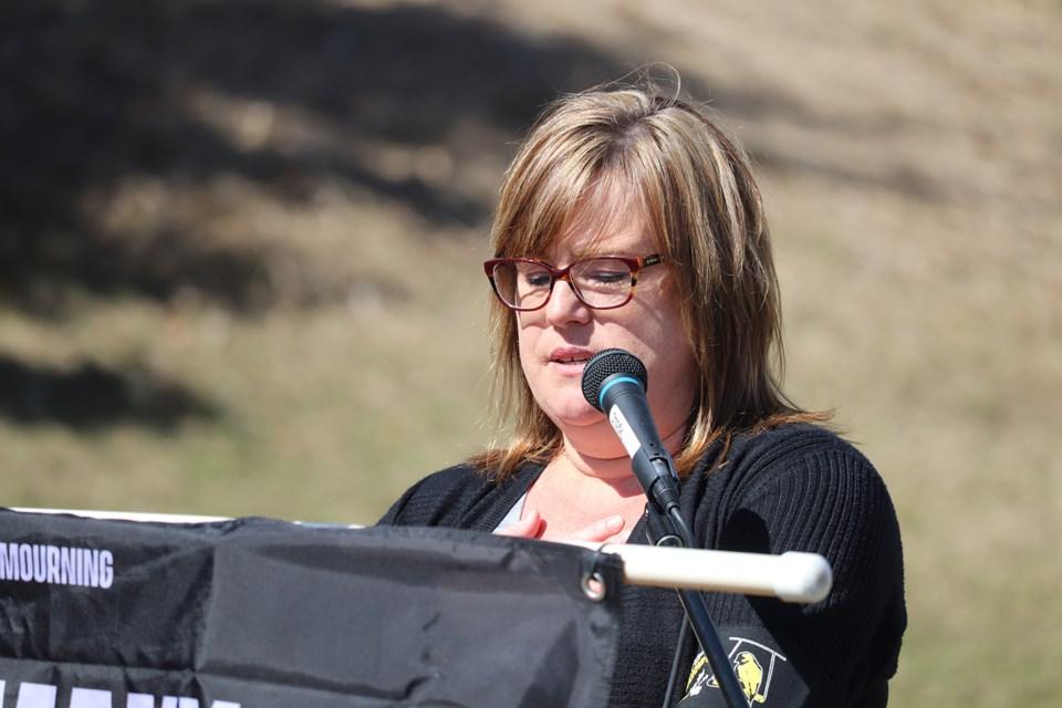 Natalie Fletcher, president of the North Central Labour Council. (via Hanna Petersen)