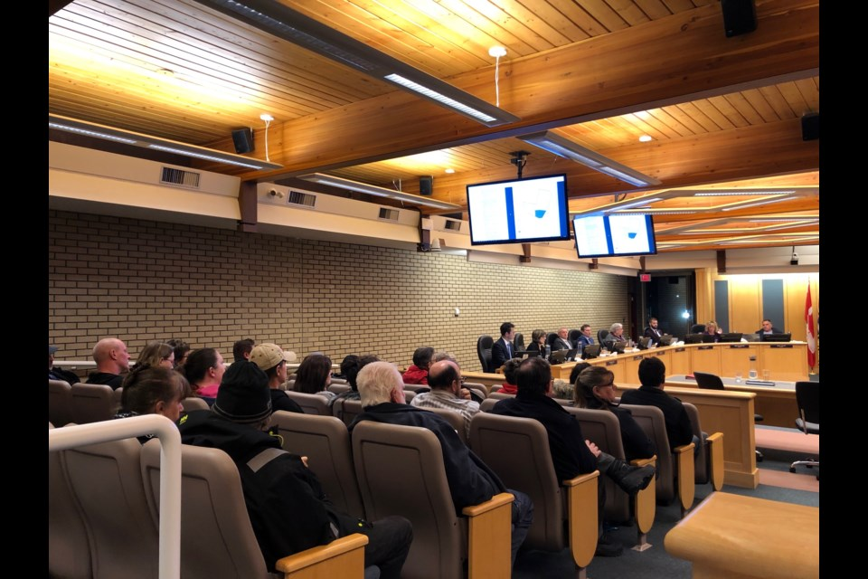 The gallery was full of people wanting to speak during the public hearing on March 11. (via Hanna Petersen)