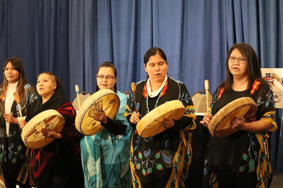 Tsi'balyan Ditni Drummers. (via Hanna Petersen)