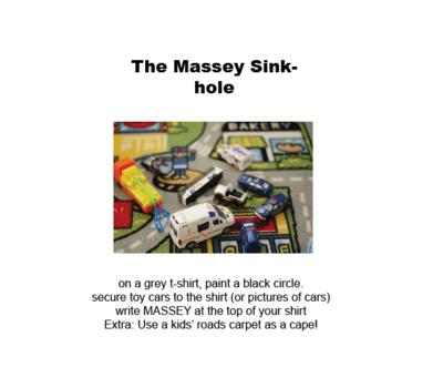 massey sink hole costume