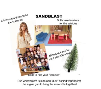 sandblasts