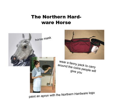 the northern hardware horse