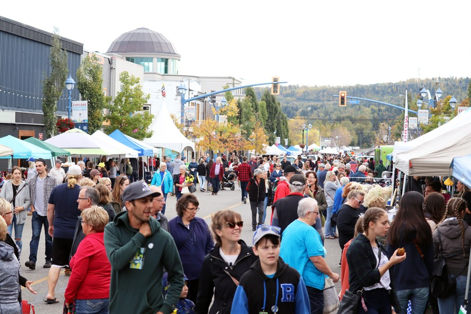 Downtown Prince George was filled for the Downtown Fallfest 2019 as well as CrossRoads' Street Festival. (via Jess Fedigan)