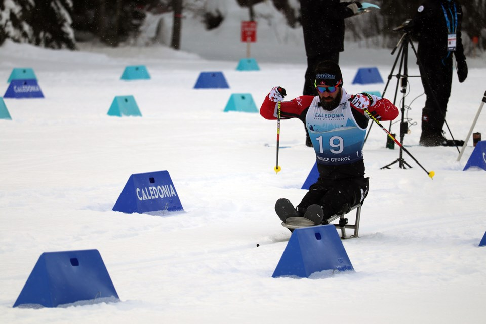 Collin Cameron (CAN) placed second in the Men Middle Sitting category on day one (Feb. 16). (via Jessica Fedigan)