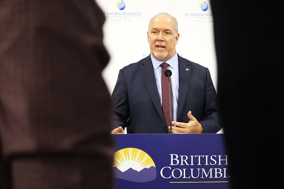 B.C. Premier John Horgan at the 2020 B.C. Natural Resources Forum. (via Jess Fedigan)