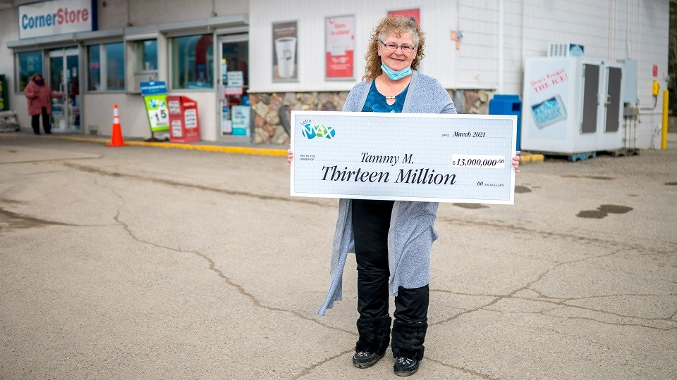 Tammy Manning of McBride won $13 million by correctly guessing all seven numbers in the March 19, 2021, Lotto Max jackpot.