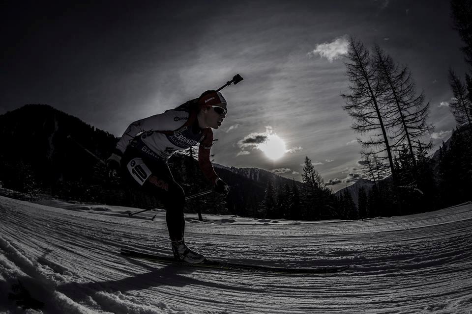 Prince George's Megan Tandy competing in a biathlon event (via Megan Tandy)