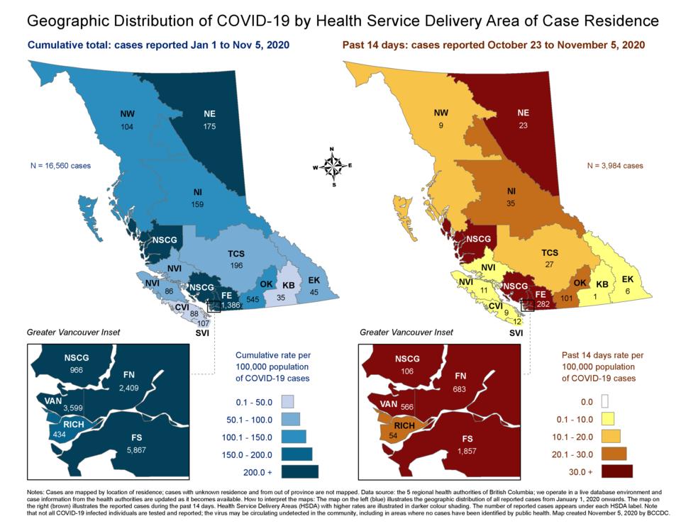 COVID 19 BCCDC report - Oct23 - Nov5
