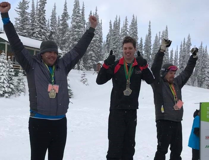 Cross-country skiers from Prince George make the podium at the 2019 B.C. Winter Games in Vernon (via Facebook/Special Olympics Prince George)