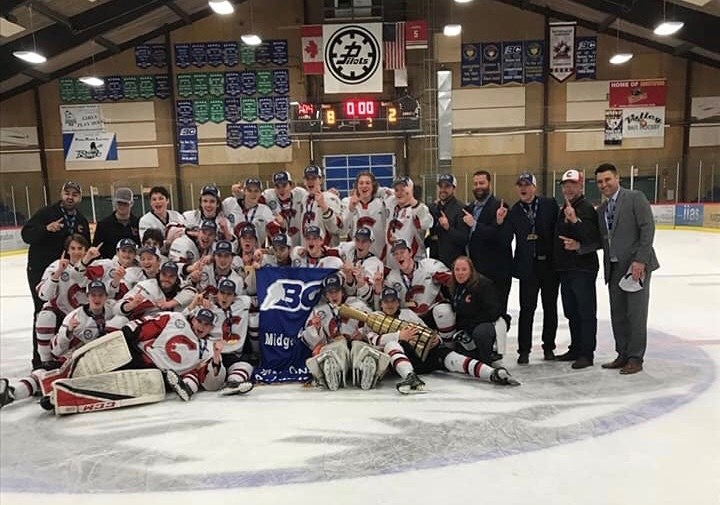 Cariboo Cougars are the 2019 B.C. Major Midget Hockey League (BCMML) champions after sweeping the Fraser Valley Thunderbirds in Abbotsford. (via Cariboo Cougars)