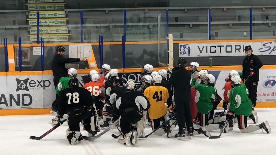 Cariboo Cougars practice - March 9, 2020