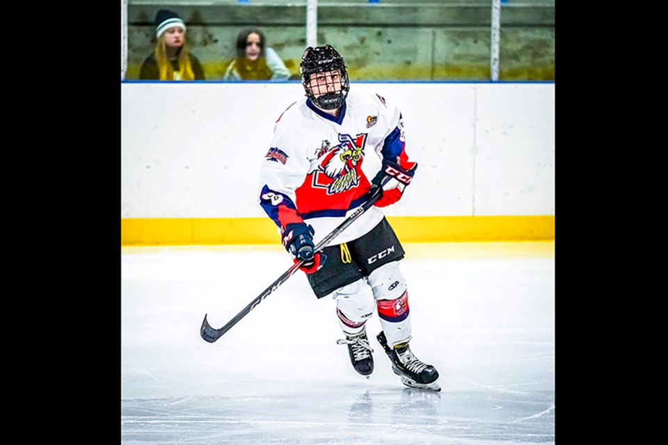 Jaxon Danilec of Prince George was the 2020 Top Forward and Rookie of the Year for the Sicamous Eagles as well as 2020 MVP for the KIJHL's Doug Birks Division. (via Sicamous Eagles)