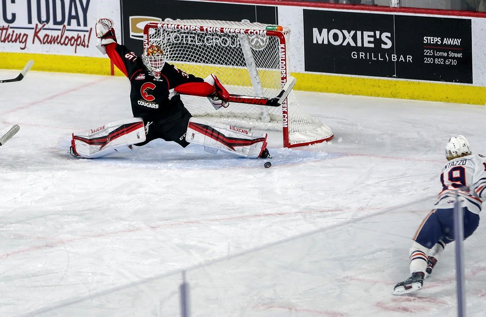 Cougars-Blazers-Gauthier save 2021 bubble