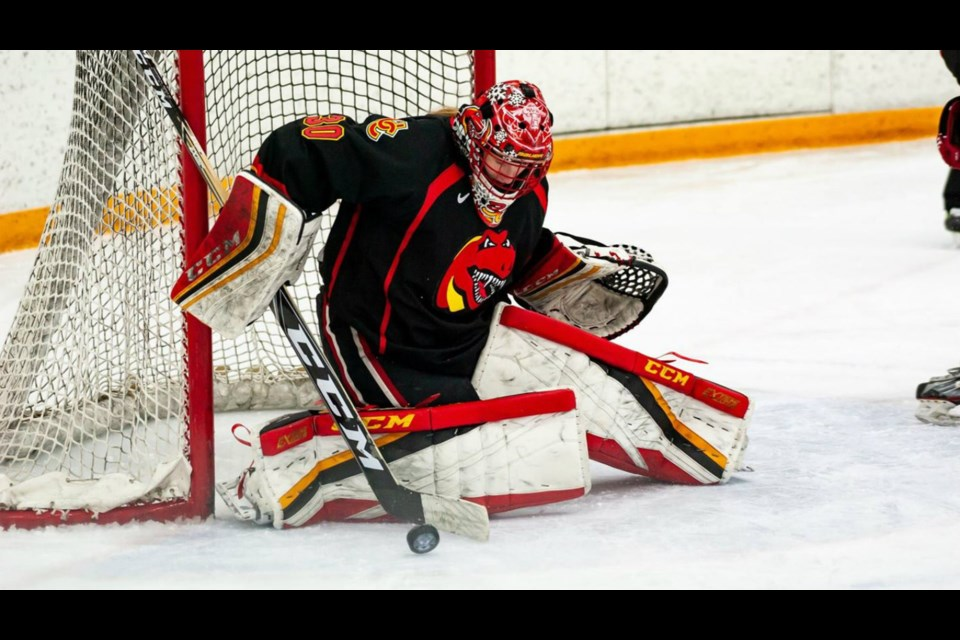 After spending three seasons in Prince George, Kelsey Roberts earned a scholarship to play for the Calgary Dinos in the Canada West conference of U-Sports (via University of Calgary Athletics)