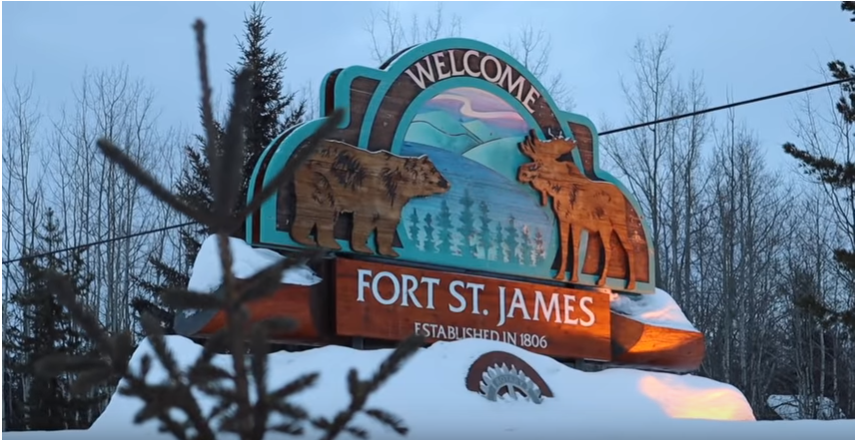 The Fort St. James welcome sign (via Marcus Allen)