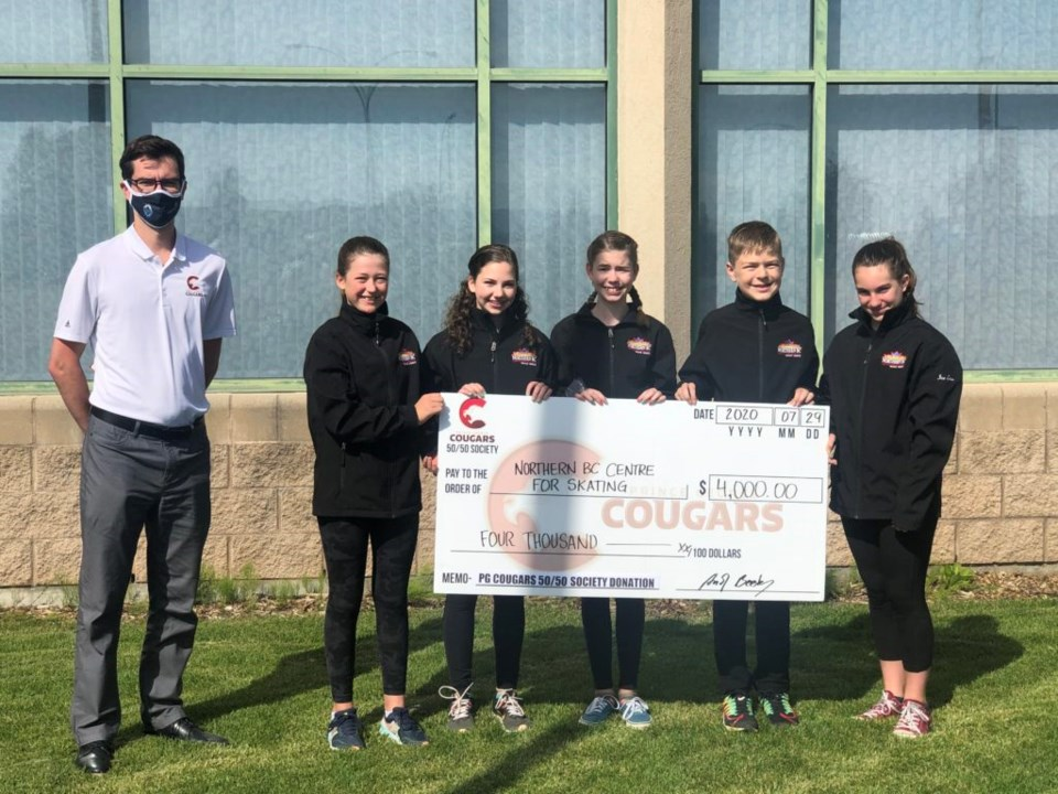 PG Cougars Northern BC Centre for Skating donation - Aug. 5, 2020