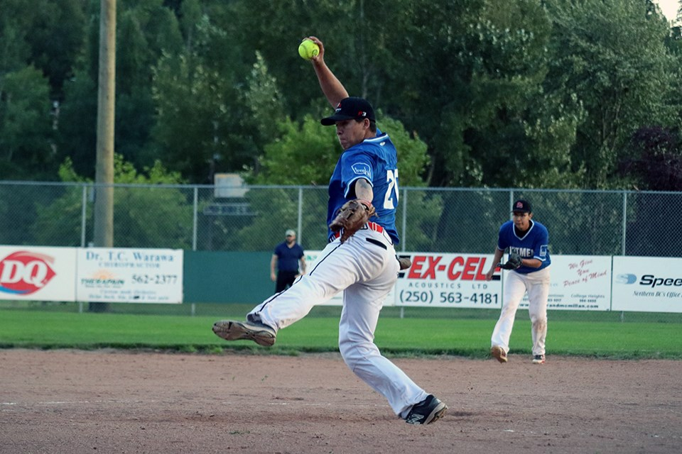 Spruce City Men's Fastball League in action for the 2020 season. (via Kyle Balzer, PrinceGeorgeMatters)