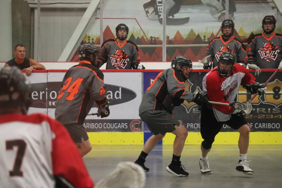 Devils against Bandits in Prince George Senior Lacrosse action (via Kyle Balzer)