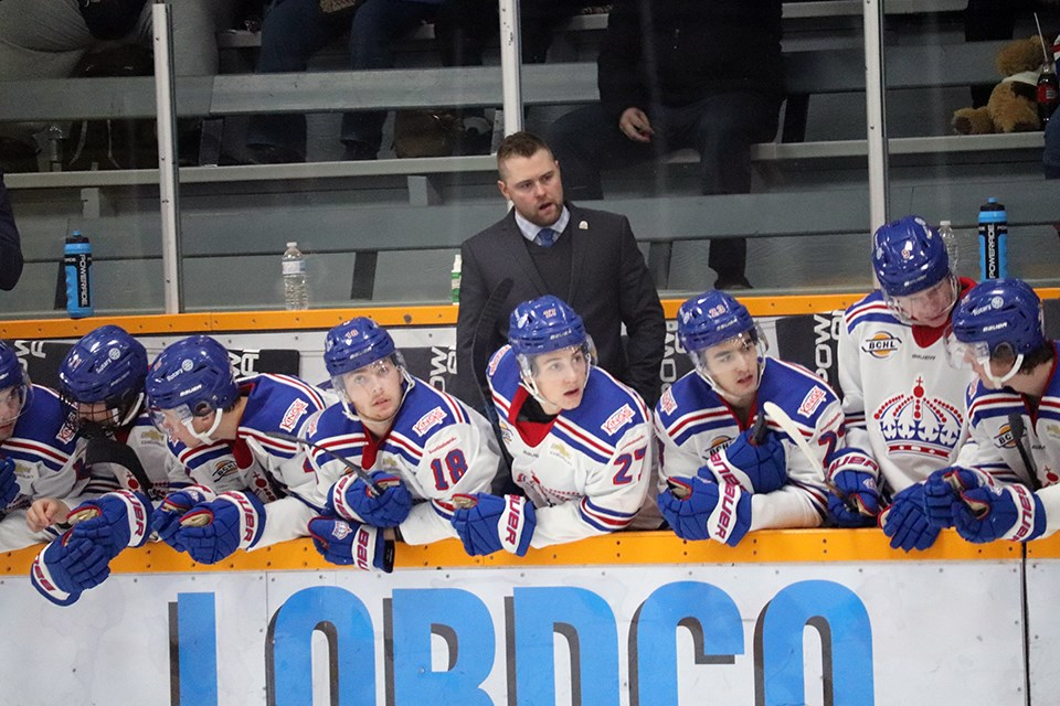 Alex Evin is the head coach of the Prince George Spruce Kings. / Kyle Balzer, PrinceGeorgeMatters