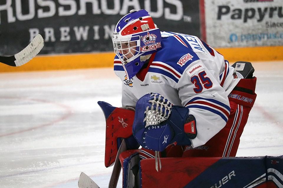 Prince George Spruce Kings goaltender Jett Alexander (via Kyle Balzer)