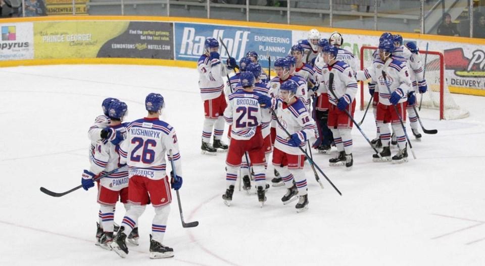 Spruce Kings celebrate win