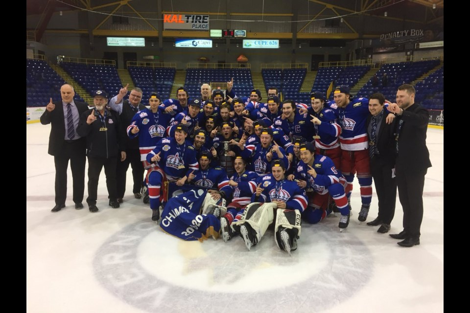 Prince George Spruce Kings, the 2019 B.C. Hockey League Fred Page Cup champions! (via BCHL)