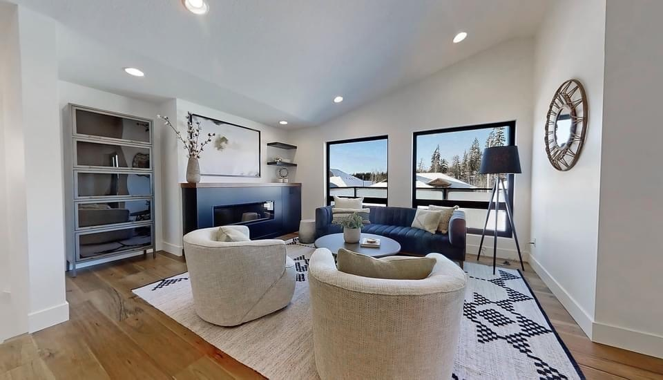 The living room of the Prince George Spruce Kings Show Home Lottery at 2754 Links Drive, which a winner will be picked on April 30, 2021. (via Spruce Kings Show Home Lottery)