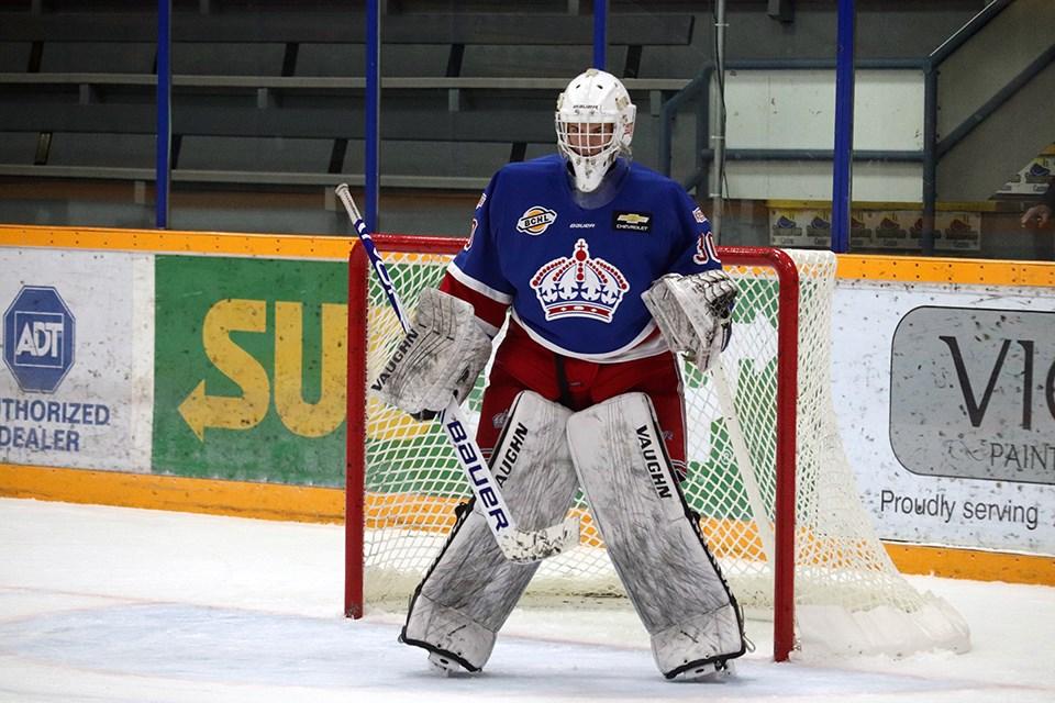 Prince George Spruce Kings goaltender Jordan Fairlie. (via Kyle Balzer, PrinceGeorgeMatters)