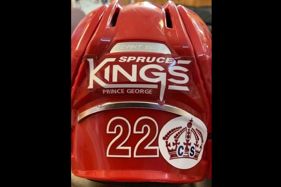 Former Prince George Spruce Kings captain Chad Staley will be honoured for the 2020-21 season with a special decal on the players' helmets. (via Prince George Spruce Kings)