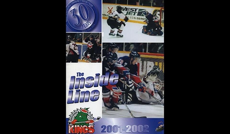 Spruce Kings program navy blue jersey hockey db