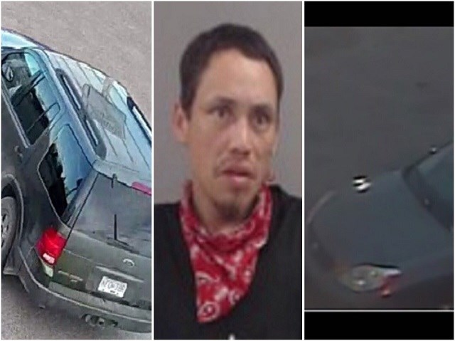 Louis Korkowski (middle) of Quesnel has not been seen since May 4, 2020 and the two vehicles in the photo are of interest to his case by police. (via B.C. RCMP)