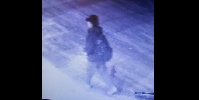 Prince George RCMP - Exploration Place spray-painting suspect Jan. 11, 2021