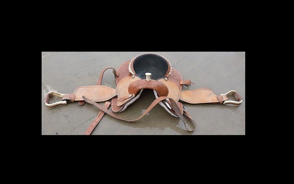 Prince George RCMP - recovered stolen saddle